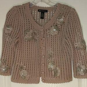 Beautiful, tan knitted, INC sweater SIZE SMALL
